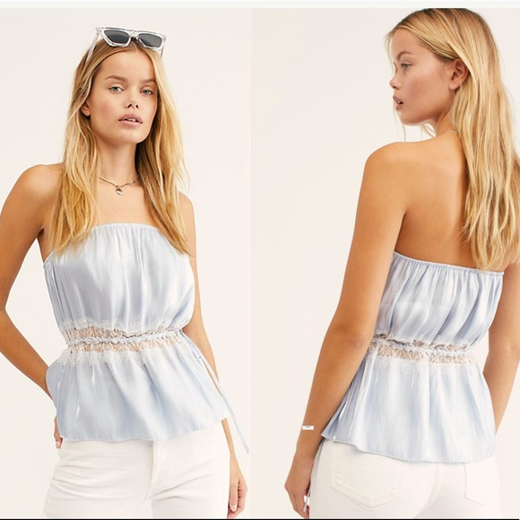 Free People Tops - FREE PEOPLE Tellin' You shimmery tube top